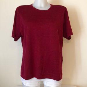 Talbots XL dark red short sleeve sweater